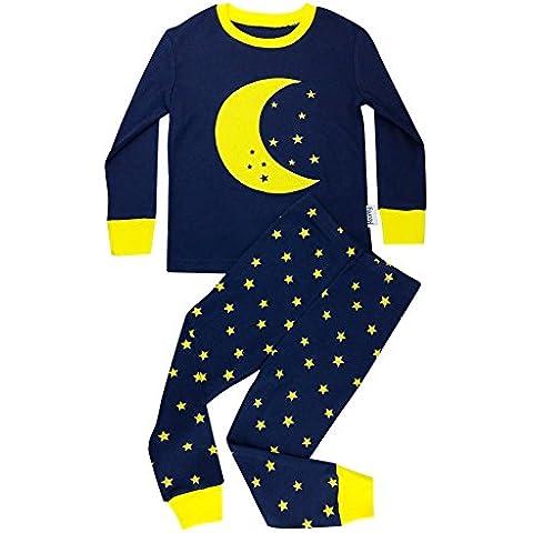 Floorey Pijamas Luna & estrellas Set de 2 Piezas 100% algodón