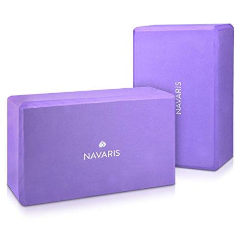 Navaris set 2en1 bloque de yoga - 2x bloques de yoga para pilates - ac