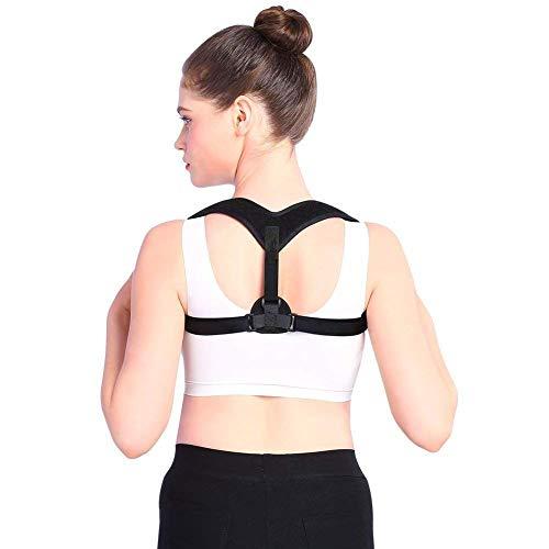 Preisvergleich Produktbild MIRC Unterstützung der oberen Rückenhaltung,  orthopädischer Nacken- und Schulterstützgurt zur Schmerzlinderung, Black, M