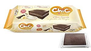 CHIC Snacks Merendine al Cacao e Caramello con Farcitura alla Vaniglia - 8 Pezzi