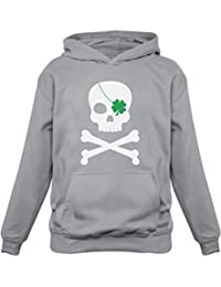 Green Turtle T-Shirts Irish Clover Skull Cool ST. Patrick's Day Kids Hoodie