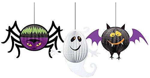 3 Décorations 3D à suspendre Halloween - taille - Taille Unique - 227383