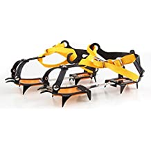 QHGstore Strap Type Crampons Ski Belt High Altitude Hiking Slip-resistant 10 CramponSnow & Ice Spikes,Grips, Crampons, Cleats