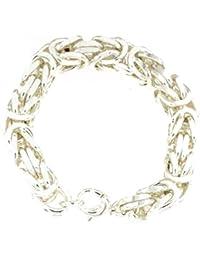 TENDENZE ITALY Re catena o re braccialetto quadrata placcato argento collana bracciale da uomo, braccialetto argento bracciale argento collana donna regalo gioielli
