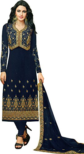 Exotic India Embroidered Long Choodidaar Kameez Suit with Bolero Jacket - Color...