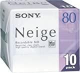 Sony Neige 80 minute blank minidisc 10 disc pack