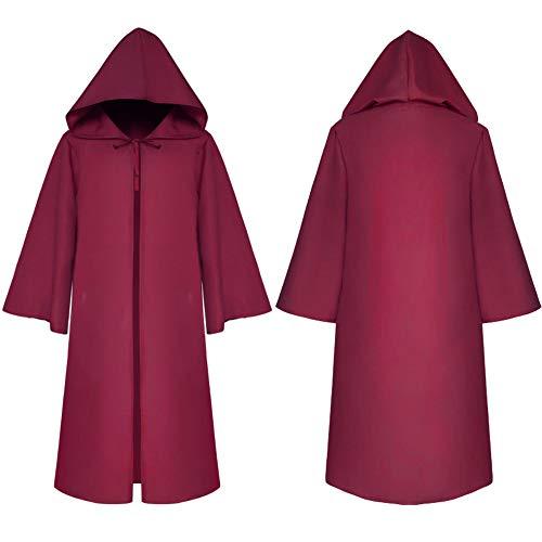 Preisvergleich Produktbild ZXYWW Halloween Umhang Hexe Umhang Cosplay Kostüme Gothic Kapuzen Umhang Cape Halloween Gothic Hexe Cosplay Robe Kostüme Umhang Mit Kapuze, Red, XL