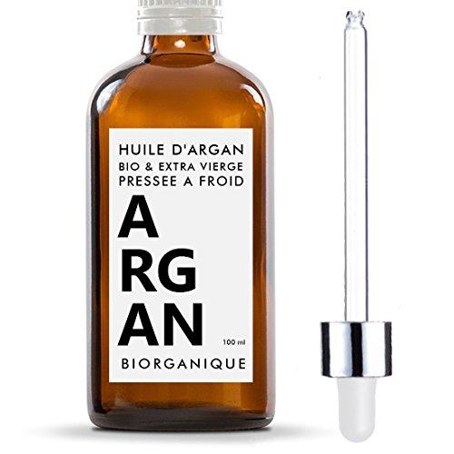 Huile d'Argan 100% Bio, Pure et Naturelle - 100 ml - Soin pour Cheveux, Corps, Peau, Ongles