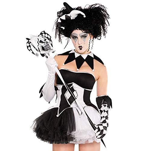 QWEASZER Frau Erwachsene Uniform Zombie Kostüm Bar