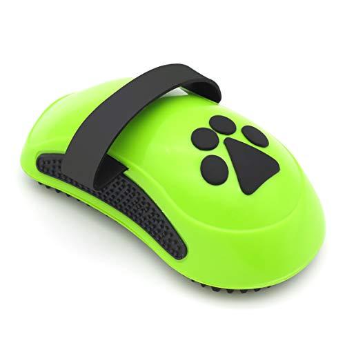 Qicheng&lys dog spazzola da bagno, pet mouse doccia pettine di massaggio gomma grooming spazzola per capelli lunghi o corti medio grandi animali domestici cani gatti (verde)