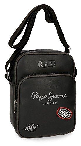 Pepe Jeans Duetone Bolso Bandolera, 25 cm, 2.93 Litros, Negro