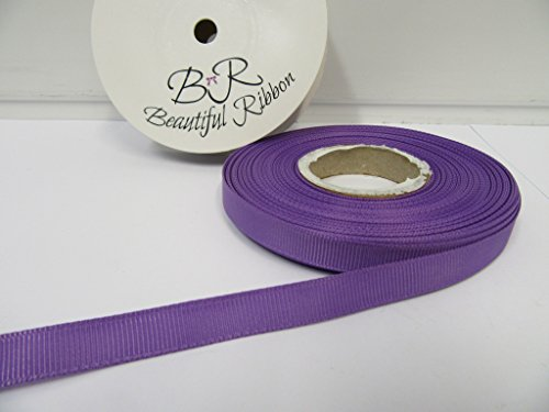 Beautiful Ribbon 1 Rouleau de Ruban Gros-Grain 10mm x 20 mètres Violet Violet Vif Recto-Verso nervuré Grosgrain 10 mm