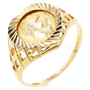 9ct Gold Heart Peso Ring - S
