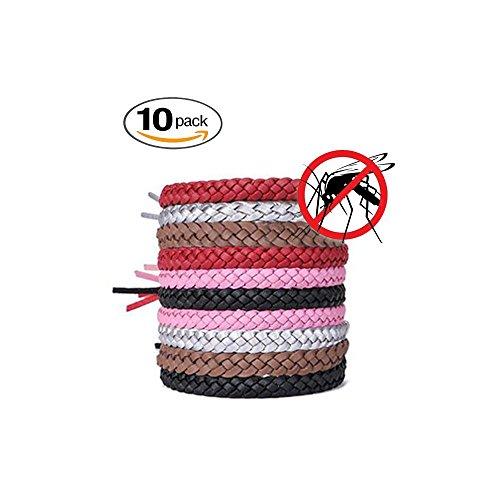 Toppaie Mückenschutz Armband(10 Stück),Anti mücken Armband,Mückenarmband mit Mücken sicher und Effektiv abweisen für Outdoor Indoor Mosquito