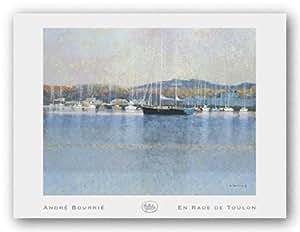 En Rade De Toulon de Andre Bourrie Tirages d'Art Poster