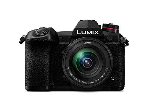 Panasonic DC-G9MEG-K Lumix G Systemkamera (20MP, 4K, 6K-Foto, Bildstabilisator, OLED-Sucher, WiFi, Staub- und Spritzwasserschutz) mit Objektiv Schwarz