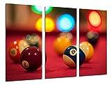 Cuadro Fotográfico Juego Mesa de Billar Tamaño total: 97 x 62 cm XXL