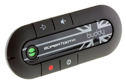 SuperTooth BTBUDDYUJ Buddy Kit Vivavoce Bluetooth per Auto, Nero - Union Jack