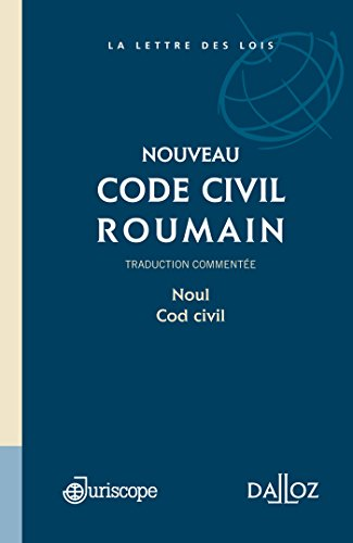 Code civil roumain - 1ère édition