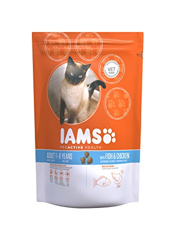 Iams for Vitality Cat Food with Ocean Fish for Adult Cats, 3 kg 1