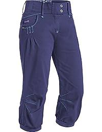 Sikia Mujer 3/4Evo. Pantalón de escalada, color Violeta oscuro, tamaño medium