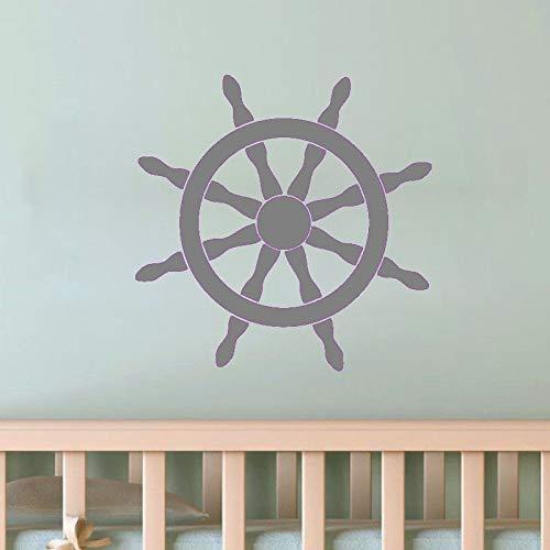 yaoxingfu Sea Styling Vinyl Wall Stickers Decoración para el hogar Ship Helm...