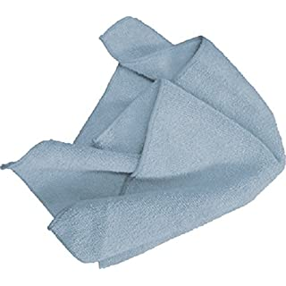 Ammex MF50G16X16BL - Microfiber Towel - Fast Absorbing, Soft and Lint Free, Machine Washable, Blue (Case of 144)