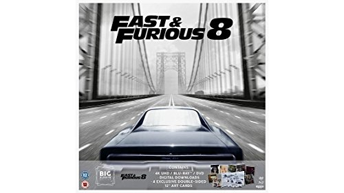 Preisvergleich Produktbild Fast And Furious 8 Big Sleeve Edition 4K Ultra HD + Blu Ray+ DVD + Art Cards / Import / Region Free.