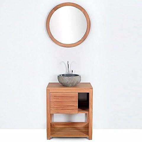 Meuble salle de bain JAVA en teck largeur 60 cm