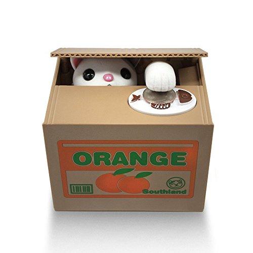 Yunchenghe 1 X Geld Bank / Münzen Bank / Sparschwein / Spardose Stehlen Münze Katze Box - Sparschwein - White Kitty (Atm-geld-box)