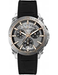 Pierre Petit Herren-Armbanduhr XL Le Mans Chronograph Quarz Leder P-792B
