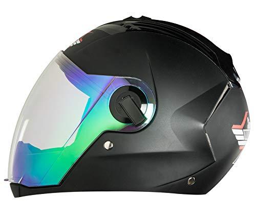 bda070fa Steelbird Exclusive SBA-2 7WINGS Full Face Helmet in Matt Finish with Dual  Action Night