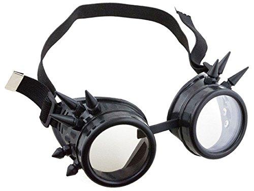 Faschingsfete Kostüm Steampunk Brille Schutzbrille Schrauben mit Gummi, -