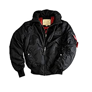 Alpha Industries MA-1 D-tec Jacket 183110 (5XL, black/black)