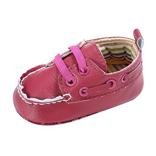 Sapatos Saingace Bebê Jovem-menina Berço De Couro Recém-nascido Macios Tênis Único-sapato Rosa Quente