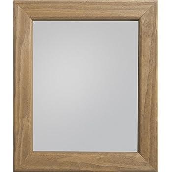 Bath Makeup Mirror Hall Solid Reclaimed Wood 80x50cm Home Bathroom Handmade