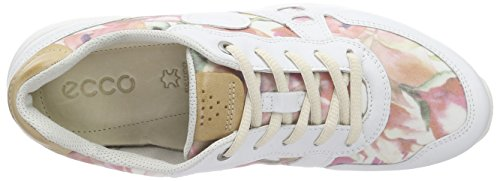 Ecco Cs14 Ladies, Scarpe da Ginnastica Donna Mehrfarbig (WHITE/FLORALPRINT/POWDER 59767)