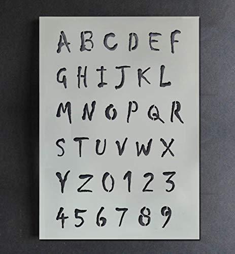 Halloween Horror Alphabet Schablone A-Z 0-9 Farbe Personalisieren Ihr Halloween Projekte mit Diesem Wiederverwendbar Buchstabe & Zahl Schablone Heim Dekoration Kunst Handwerk Ideal Stencils - M/ 3-4CM