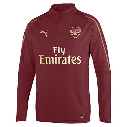 Puma Herren Arsenal FC 1/4 Zip with EPL Sponsor Logo T-Shirt, Pomegranate, XL