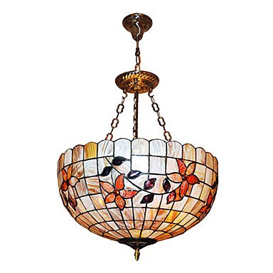 120W Classic Tiffany luce del pendente con Vivi Natura Shell