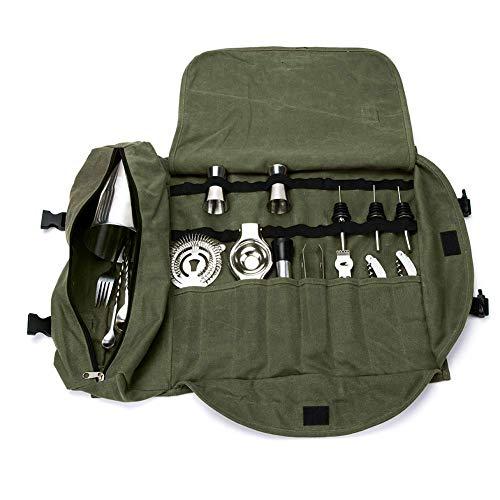 Qees gjb309 - borsa da barman portatile, grande set da bar, ideale per la casa e il posto di lavoro 15.7