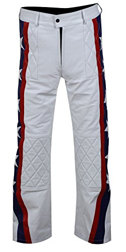 Evel Kostüm Knievel - Fashion_First Herren Jacke Weiß Evel Knievel Jacket Gr. S, Evel Knievel Pants