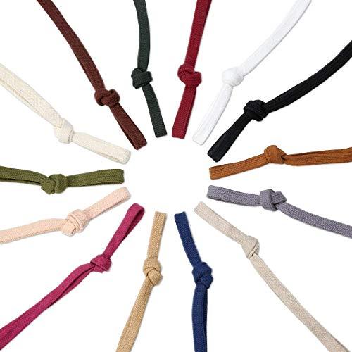 Kostüm Großhandel Billig - Sweatshirt Hoodie Flaches Baumwollband Ribbon Cordseil,10 & 15mm,Garment Hoodie Tunnelzug. 26 Farben, Natürliche Creme, 1 Meter (15mm)