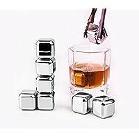CYBERNOVA Whiskey Stones-Set di 8 pinze, riutilizzabile, in acciaio INOX per vino, cubetti di ghiaccio, cubetti da Whisky, Whisky Stones, e Sipping Stones - Ice Stone