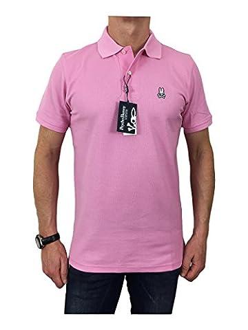 Psycho Bunny Men's Pima Cotton Classic Polo Shirt AZALEA M