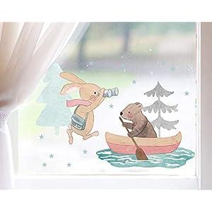 TinyFoxes Fensterbild Expedition der Waldtiere – Hochwertige statische Folie zum Wiederverwenden