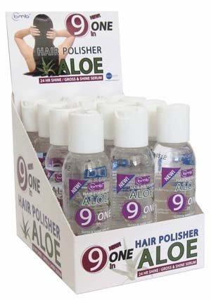 BMB Hair Polisher Aloe 9 in One Gloss & Shine Serum Hydrating / Polishing 2 oz - 12Pack by Blue Moon Beauty (Gloss Shine Polishing)