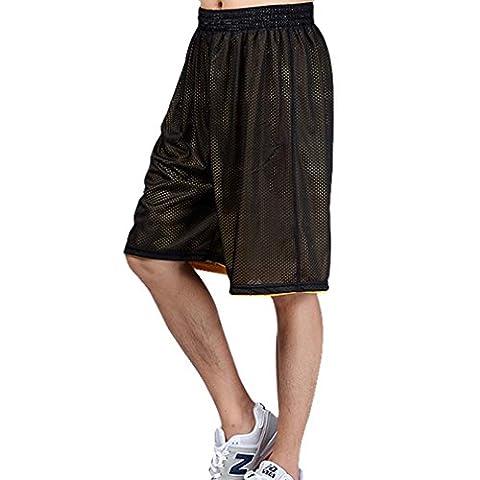 Réversible Shorts HOEREV masculine Basketball Sport, pas de