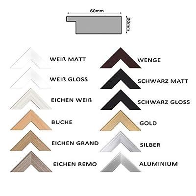 Ramix Spiegel mit Rahmen, 12 Farben Rahmen, Handgefertigte, Breiter Fester Rahmen, Stabiler Rückwand, Rahmenleiste: 60 mm Breit und 20 mm Hoch, 28 Verschiedene Größen