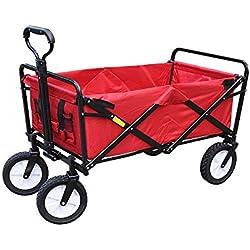 HUACANG Chariot à Chariot portatif Se Pliant à Quatre Roues, extérieur, Camping, supermarché, Manipulation, épicerie